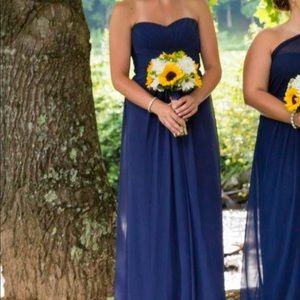 Navy Blue David's Bridal Bridesmaid Dress